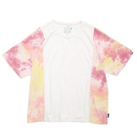 GO HEMP(ゴーヘンプ) TYE DYE MULTI WIDE S/SL TEE (ナチュラル)(ワイド ショートスリーブ TEE)(Tシャツ)