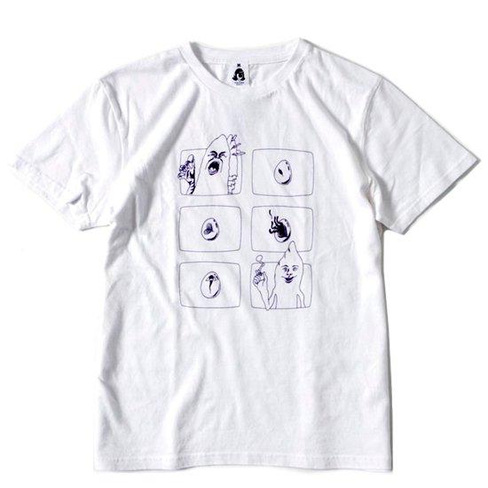 TACOMA FUJI RECORDS(タコマフジレコード) LOST EGGS S/S TEE (ホワイト)(プリントTシャツ)