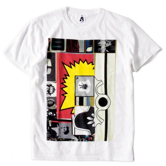 TACOMA FUJI RECORDS(タコマフジレコード) PUNK JAZZ S/S TEE (ホワイト)(プリントTシャツ)