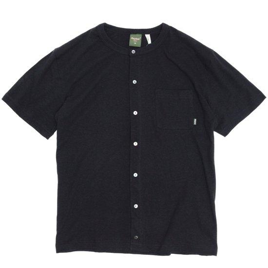 Phatee(ファティ) SNAP TEE (ブラック)(Tシャツ)(ヘンプコットン)