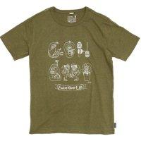 GO HEMP(ゴーヘンプ) Fun! Funk Show S/SL TEE by のすけ (オリーブグリーン)(ベーシック ショートスリーブ TEE)(Tシャツ)