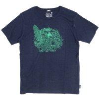 GO HEMP(ゴーヘンプ) Voice of Nature S/SL TEE by KAN HIRANO (マリンネイビー)(ベーシック ショートスリーブ TEE)(Tシャツ)