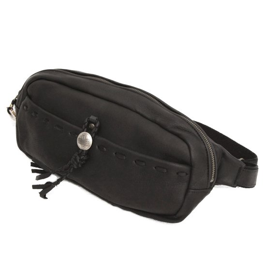 Early Morning (アーリーモーニング) LEATHER DAYLY WAIST BAG M (BLACK) (バッグ)