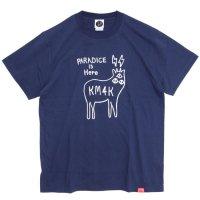 KM4K(カモシカ)LOGO T(インディゴ)(Tシャツ)