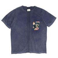 VOO(ヴォー) LIF GBL PKT TEE D.I.Y (ネイビー)(ゴブランポケットTEE)(Tシャツ)