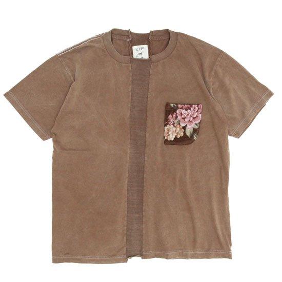 VOO(ヴォー) LIF GBL PKT TEE D.I.Y (ブラウン)(ゴブランポケットTEE)(Tシャツ)