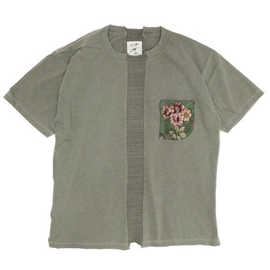 VOO(ヴォー) LIF GBL PKT TEE D.I.Y (オリーブ)(ゴブランポケットTEE)(Tシャツ)