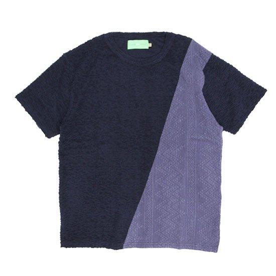 VOO(ヴォー) G.C SLANT (ネイビー)(グッドコンボ スラント)(パイル)(ジャカード)(Tシャツ)
