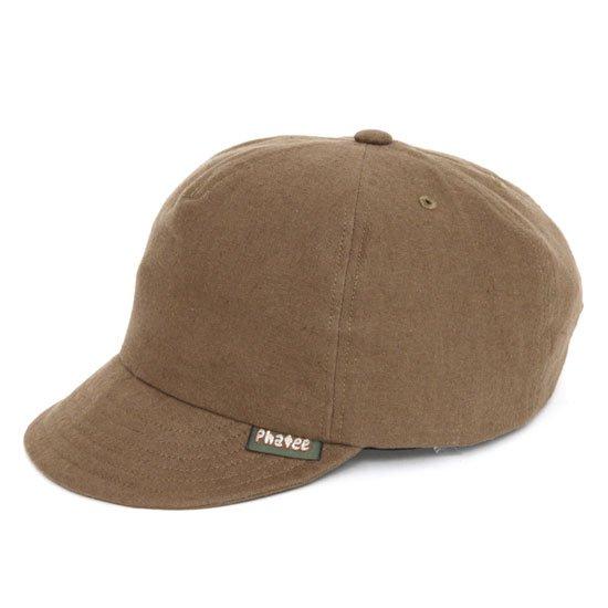 Phatee(ファティ) HEMP CAP (ブラウン)(ヘンプキャップ)