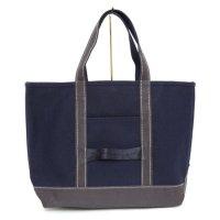 hobo(ホーボー) Cotton Canvas Tote Bag M (ネイビー)(トートバッグ)(キャンバス)