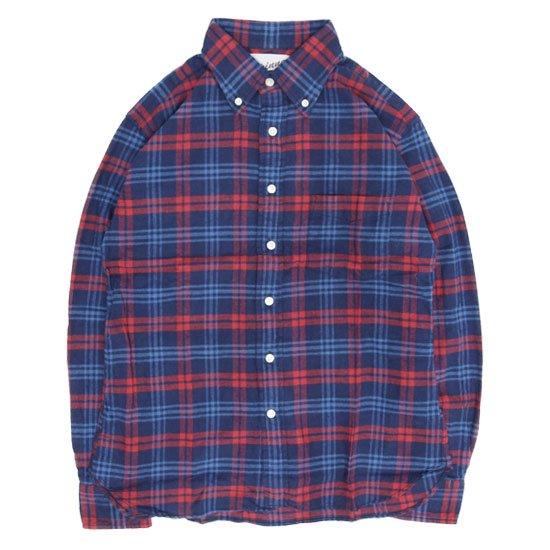SPINNER BAIT スピナーベイト|エイタ ネルチェック L/S シャツ (ネイビー/レッド)(ネルシャツ)(長袖シャツ)