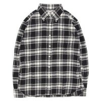 SPINNER BAIT スピナーベイト|エイタ ネルチェック L/S シャツ (ブラック/ホワイト)(ネルシャツ)(長袖シャツ)
