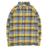 SPINNER BAIT スピナーベイト|エイタ ネルチェック L/S シャツ (イエロー/ブルー)(ネルシャツ)(長袖シャツ)