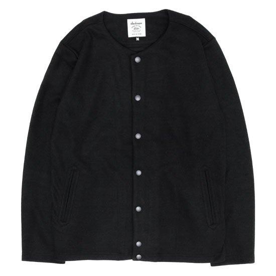 Jackman ジャックマン|JM7641 Jersey Collarless Jacket (スミクロ)(カラーレスジャケット)