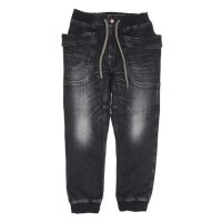GO HEMP ゴーヘンプ|VENDER RIB PANTS BLACK DENIM (ユーズドウォッシュ)(ベンダーリブパンツ)
