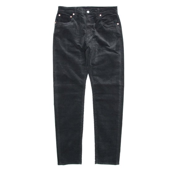 GO WEST ゴーウェスト|TAPERED FITS PANTS CORDUROY (ブラック)(テーパードフィッツパンツ コーデュロイ)