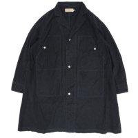 VOO ヴォー|COVERALLS F-3 ロング着丈 (ブラック)(カバーオール 師父コート)