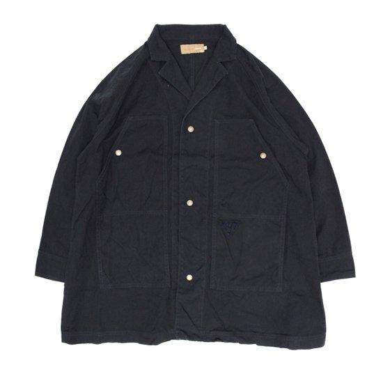 VOO ヴォー|COVERALLS F-2 ミドル着丈 (ブラック)(カバーオール 師父コート)