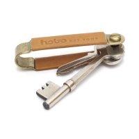 hobo ホーボー|Brass Key Holder (ベージュ)(キーホルダー)