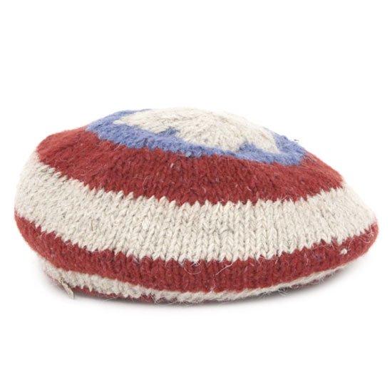 GO HEMP ゴーヘンプ|FLAG BERET (ブルー)(アメリカン ベレー帽 フラッグベレー)