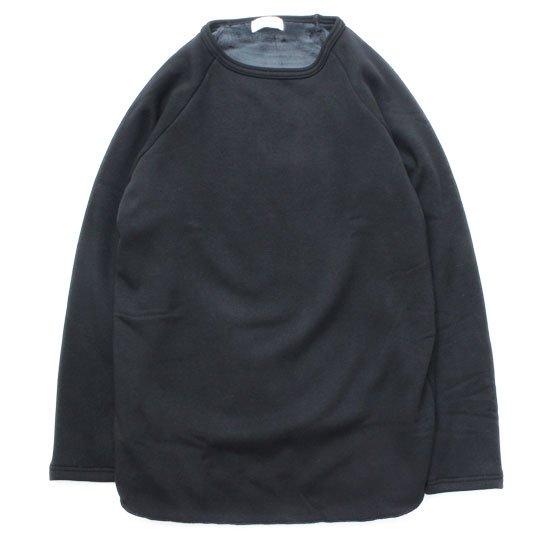 SPINNER BAIT スピナーベイト|ボンバーヒート ラグラン クルーネック (ブラック)(裏起毛ロンTEE)