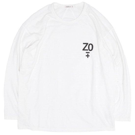 remilla レミーラ|デルタTEE (ホワイト)(長袖Tシャツ ロンTEE)