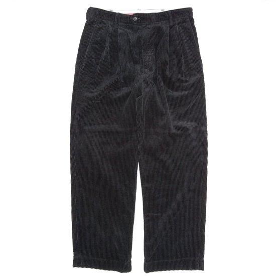 Nasngwam ナスングワム|LABORER PANTS (ブラック)(ラボラーパンツ 太畝コーデュロイ)