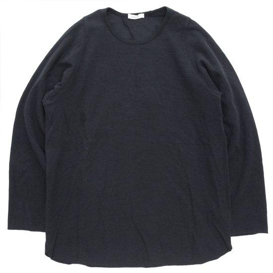 remilla レミーラ|ヒトエラウンド九分TEE (ブラック)(長袖Tシャツ ロンTEE)