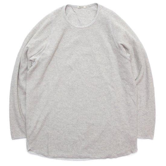 remilla レミーラ|ヒトエラウンド九分TEE (ホワイト杢)(長袖Tシャツ ロンTEE)
