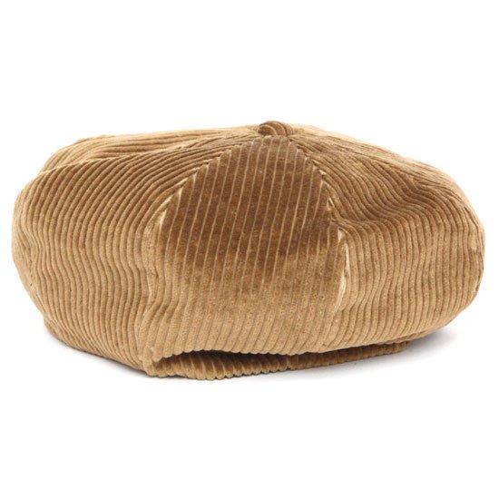 Nasngwam ナスングワム ZEPPET BERET (キャメル)(コーデュロイ ベレー帽)