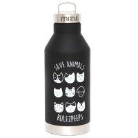 rulezpeeps ルールズピープス|mizu V6 ボトル SAVE ANIMALS (ブラック)(ミズボトル)