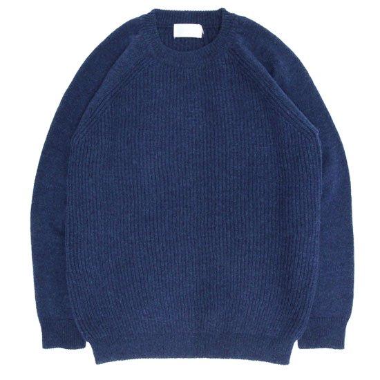 soglia ソリア|LERWICK Sweater (ミッドブルー)(ラーウィックセーター)