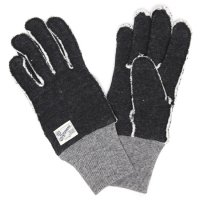 kepani ケパニ|Saguaro-2 裏起毛スウェットグローブ (ブラック)(スマホも使える手袋)