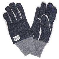 kepani ケパニ|Saguaro-2 裏起毛スウェットグローブ (ネイビー)(スマホも使える手袋)