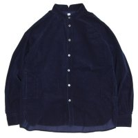 HiHiHi ひひひ|ゴデシャツ (インディゴコール天)(スタンドカラーシャツ)