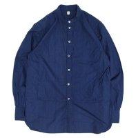 HiHiHi ひひひ|ポケット シャツ (インディゴ)(スタンドカラーシャツ)