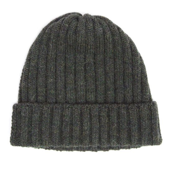 remilla レミーラ|リブニット帽 (カーキ杢)(ニット帽)