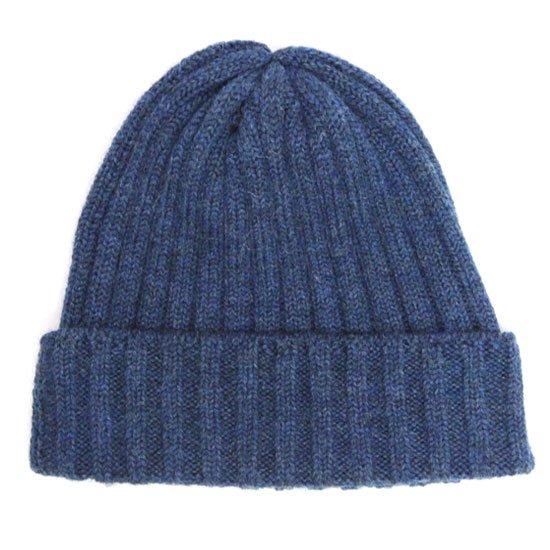 remilla レミーラ|リブニット帽 (ブルー杢)(ニット帽)