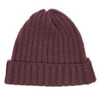 remilla レミーラ|リブニット帽 (ボルドブラウン)(ニット帽)