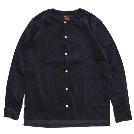 Phatee ファティ|TEKIYA SHIRTS LONG (ブラック)(ノーカラーシャツ 長袖シャツ)