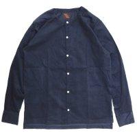 Phatee ファティ|TEKIYA SHIRTS LONG (ネイビー)(ノーカラーシャツ 長袖シャツ)