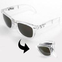KM4K カモシカ|PARADICE GLASS (クリア)偏光スモークレンズ(折りたためるサングラス)