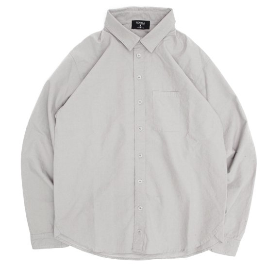 remilla レミーラ|ヒトエラウンドシャツ (サンドグレイ)(長袖シャツ)