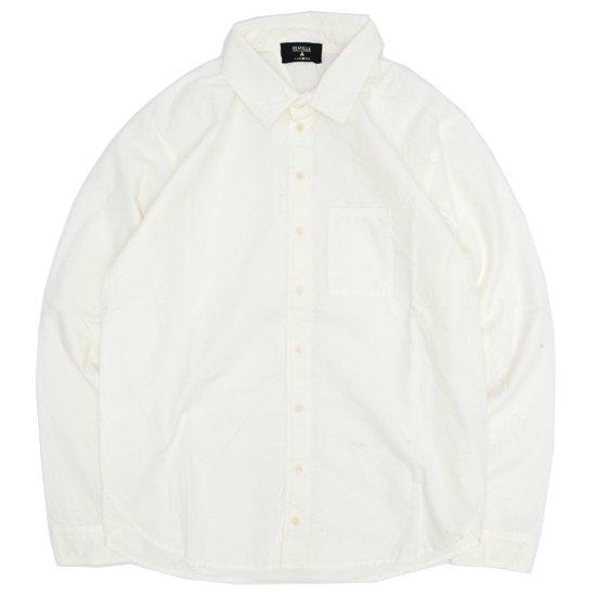 remilla レミーラ|ヒトエラウンドシャツ (ホワイト)(長袖シャツ)
