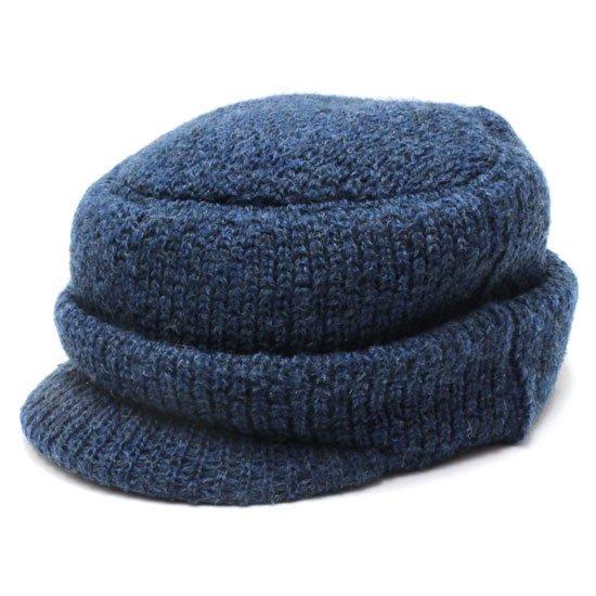 remilla レミーラ|マタギ帽 (ブルー杢)(ニット帽)