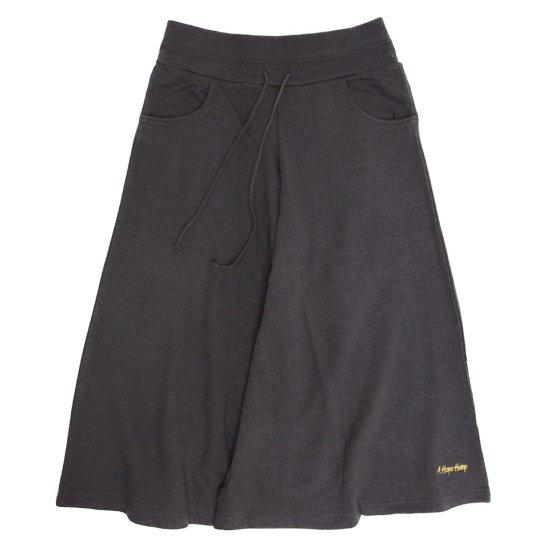 A HOPE HEMP アホープヘンプ|レディース 8SL Wide Pants (オールドブラッキー)(八分丈ワイドパンツ)