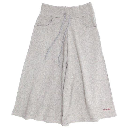 A HOPE HEMP アホープヘンプ|レディース 8SL Wide Pants (アッシュドグレイ)(八分丈ワイドパンツ)