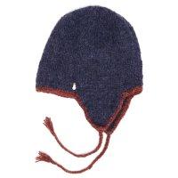 GO HEMP ゴーヘンプ|GARM CAP (ダークブルー)(フラップニット帽)