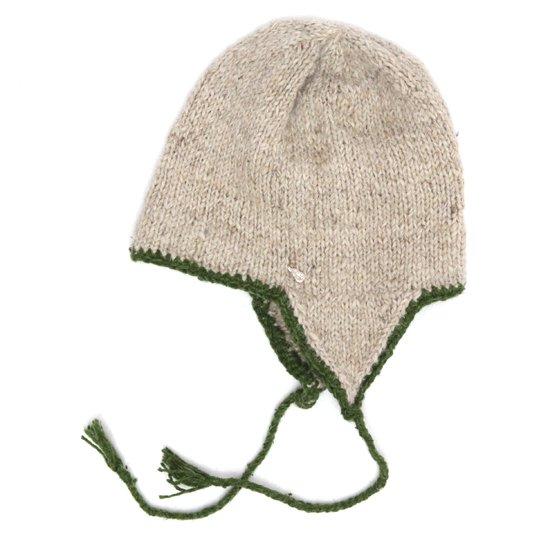 GO HEMP ゴーヘンプ GARM CAP (アイボリー)(フラップニット帽)