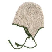 GO HEMP ゴーヘンプ|GARM CAP (アイボリー)(フラップニット帽)